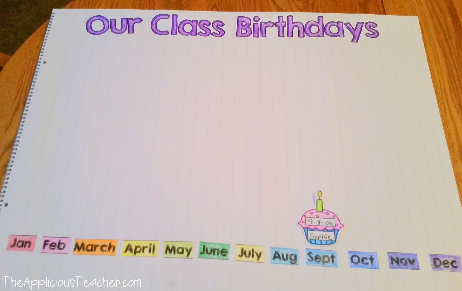 birthday charts for class 2: First week of school charts freebie the applicious teacher