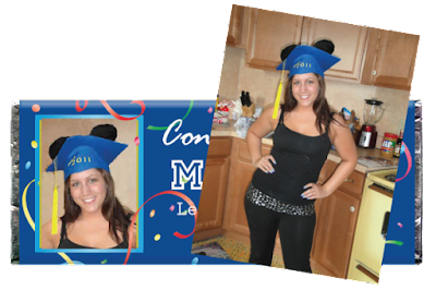 image of personalized graduation candy wrapper