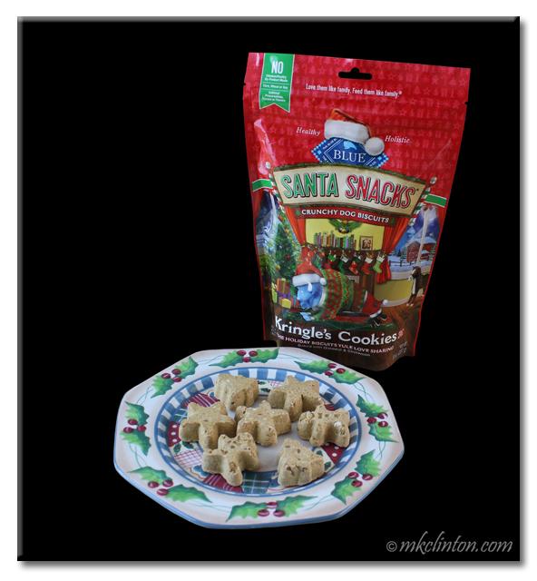 Christams plate with Kringle's Cookies Santa Snacks