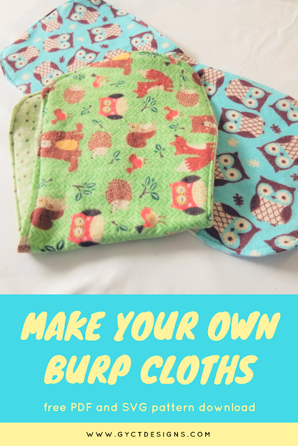 Learn how to sew burp cloth with this free baby burp cloth pattern