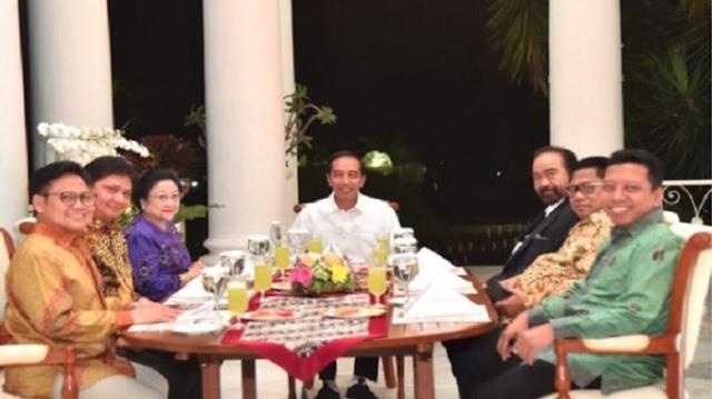 Fadli Zon dan Ferdinand Hutahaean Pertanyakan Pertemuan Jokowi dengan 6 Petinggi Partai Politik