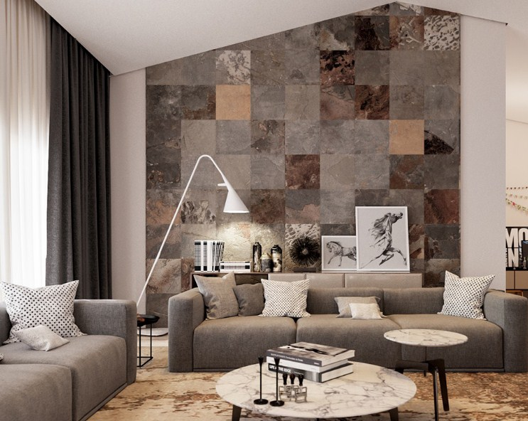 32 Motif Keramik Dinding Ruang Tamu Yang Minimalis