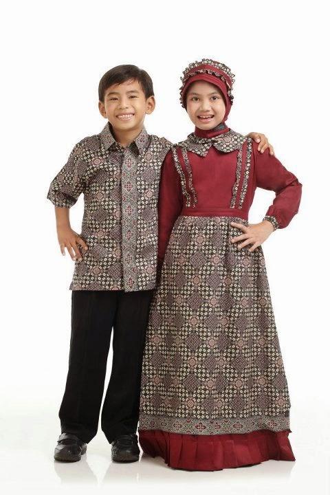 Model Baju Batik Muslim Terbaru untuk Anak Perempuan dan ...