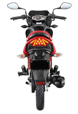 All New 2017 Hero Glamour Rear Image