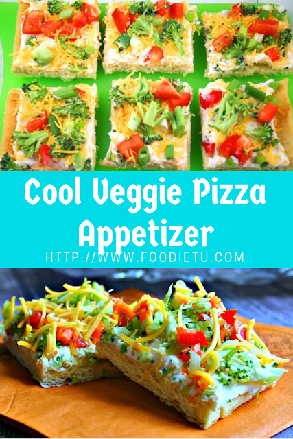 Cool Veggie Pizza Chritsmas Appetizer