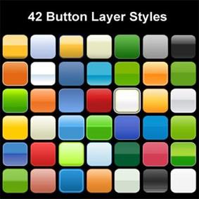 تحميل ستايل زجاجي للفوتوشوب مجاناً, Photoshop Styles free Download, Photoshop Button Layer Styles free Download
