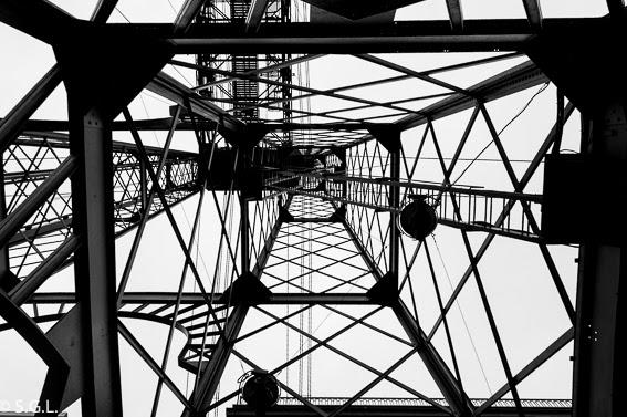 El puente colgante o puente de Vizcaya
