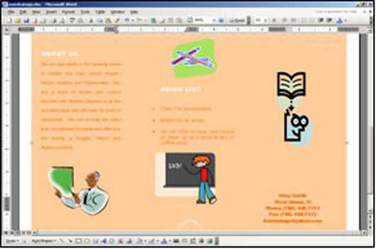 making a brochure in microsoft word