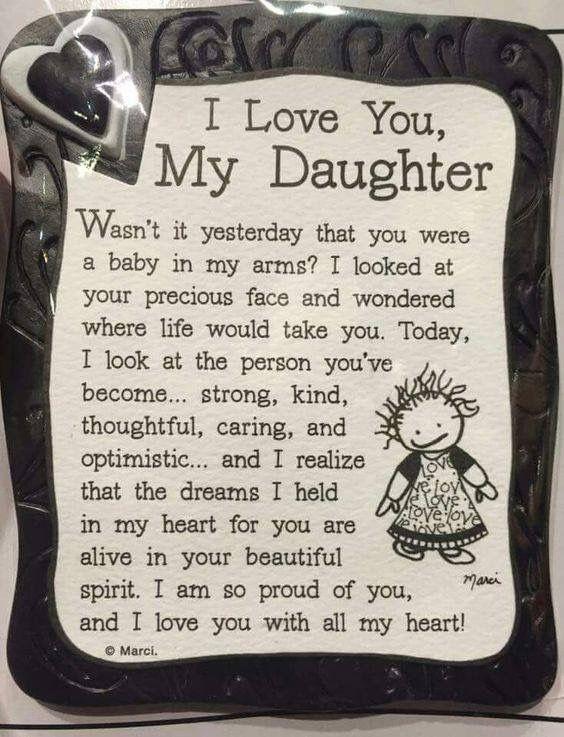 I love you My Daughter تهنئة عيد ميلاد بنتي بالانجليزي
