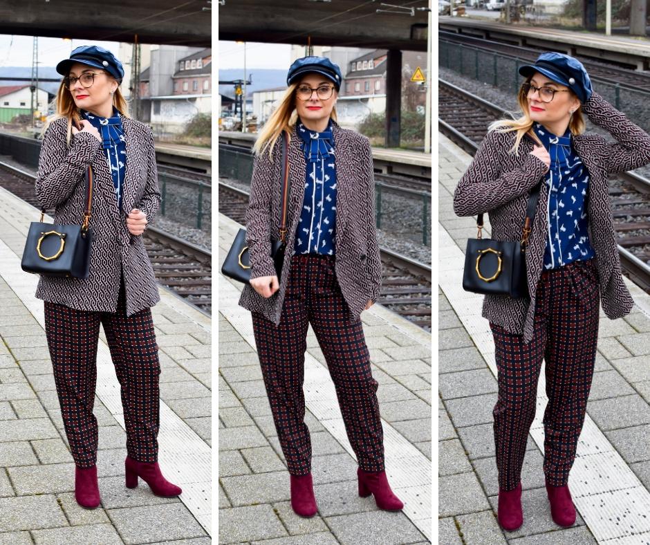 Welcher Business Style passt ins Büro / Blazer, Bluse und Hose / Bordeaux