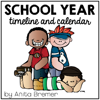 School year timeline and calendar- a great keepsake to record their school year!