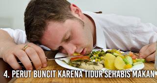 Perut Buncit karena tidur sehabis makan