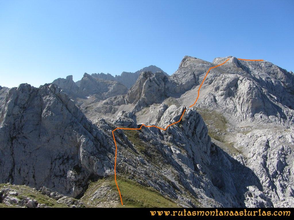 Ruta Ercina, Verdilluenga, Punta Gregoriana, Cabrones: Camino de la Verdilluenga a la Punta Gregoriana