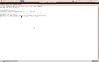 Reparación de sectores dañados en Disco Duro con GNU/Linux (disco vivo de ubuntu) 2