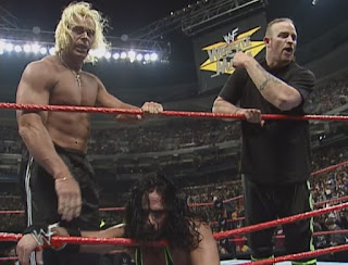 WWE / WWF Wrestlemania 15: The three remaining members of DX after HHH's heel turn