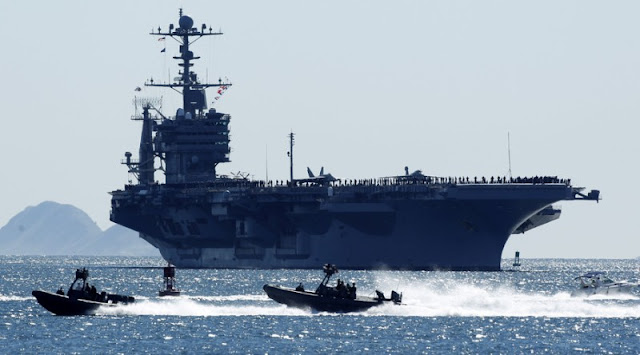 Tiongkok Tak Izinkan Kapal Induk AS Merapat ke Hong Kong