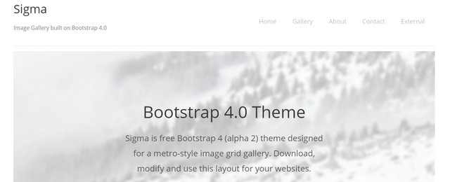 Sigma Bootstrap HTML5 Responsive Website Templates