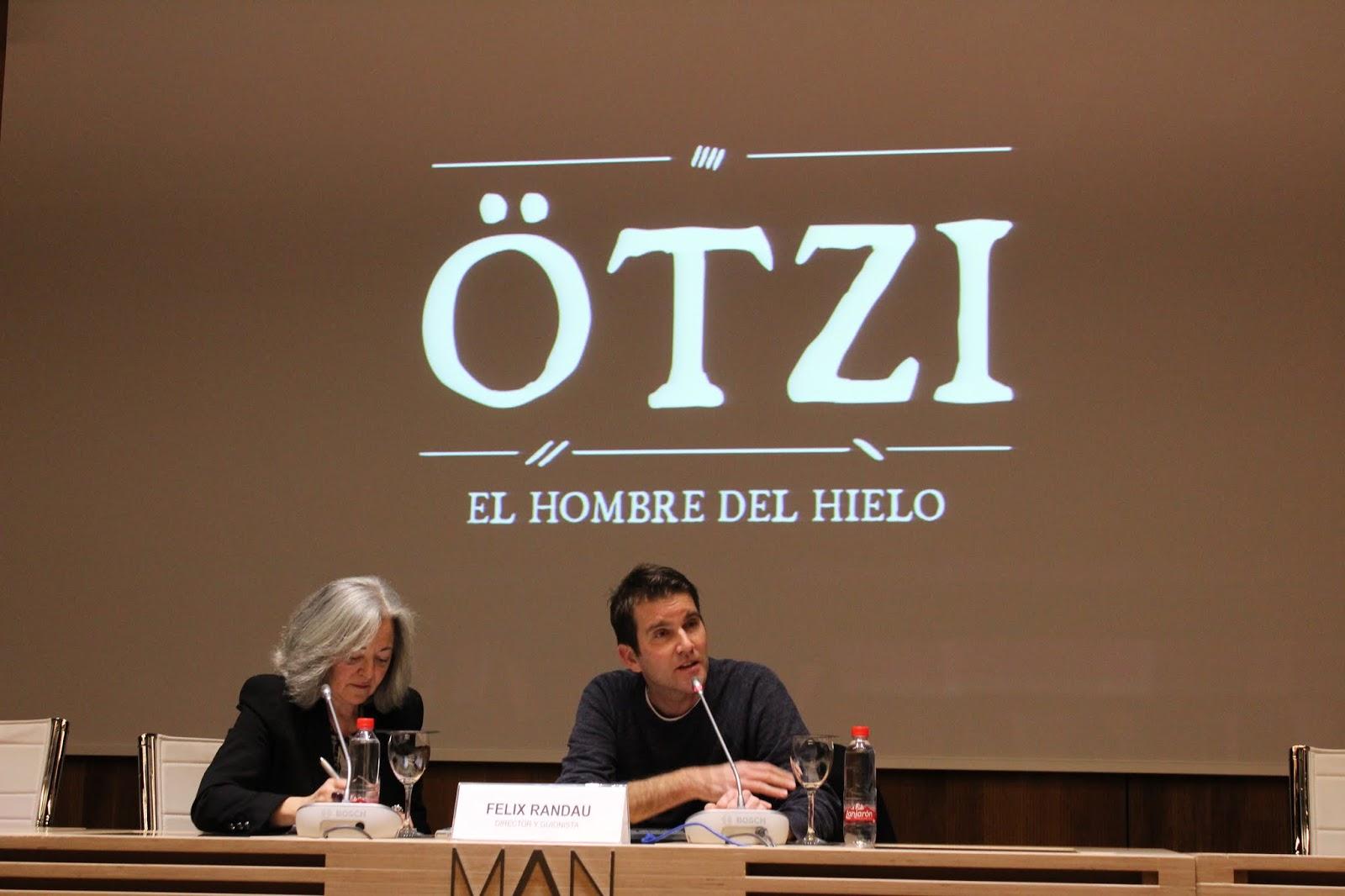 Un momento de la rueda de prensa de Felix Randau en el Museo Arqueológico Nacional de España. Foto: Laura Benito.
