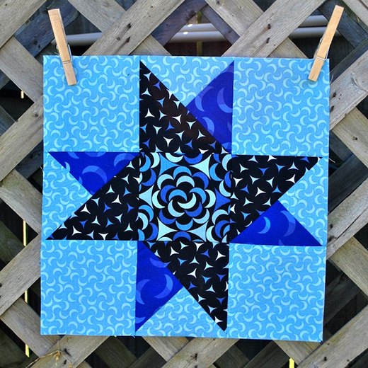 Simple Spinning Star Quilt Block Free Tutorial