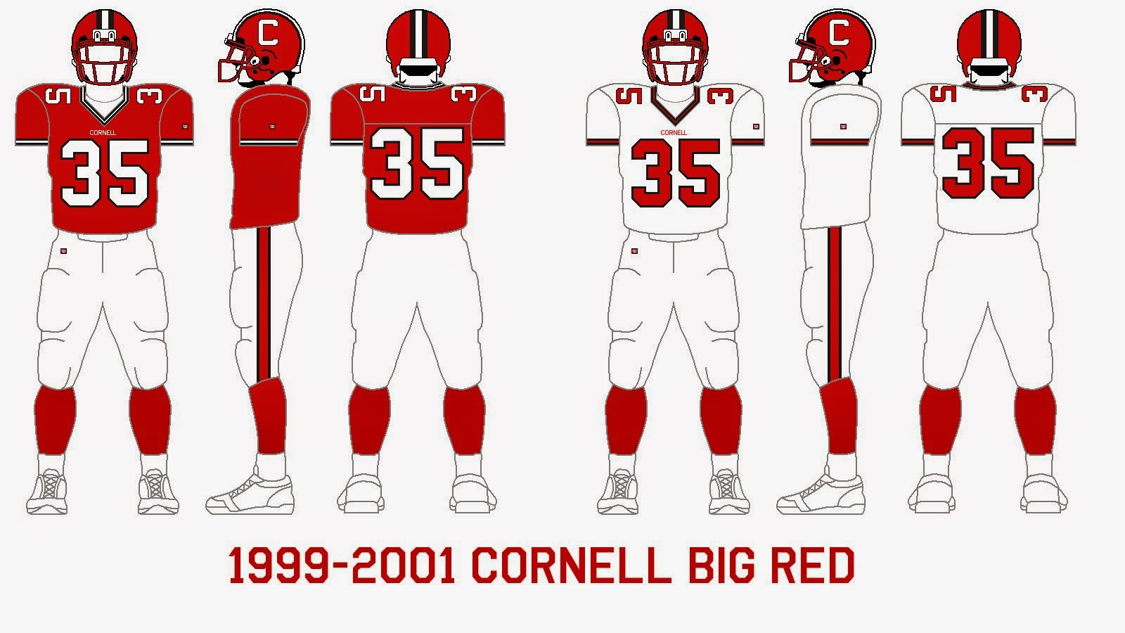 competitive price c4b31 763bc Gridiron Garb: Cornell Big Red (1999-2001)