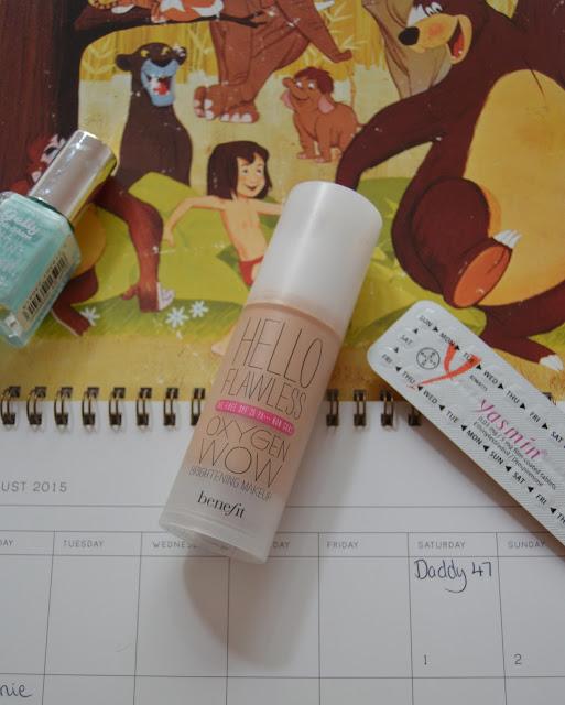 foundation, nail varnish, pill