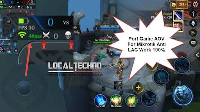 Port Game Moba Garena AOV Untuk Mikrotik Dijamin Work 100% Anti Lag