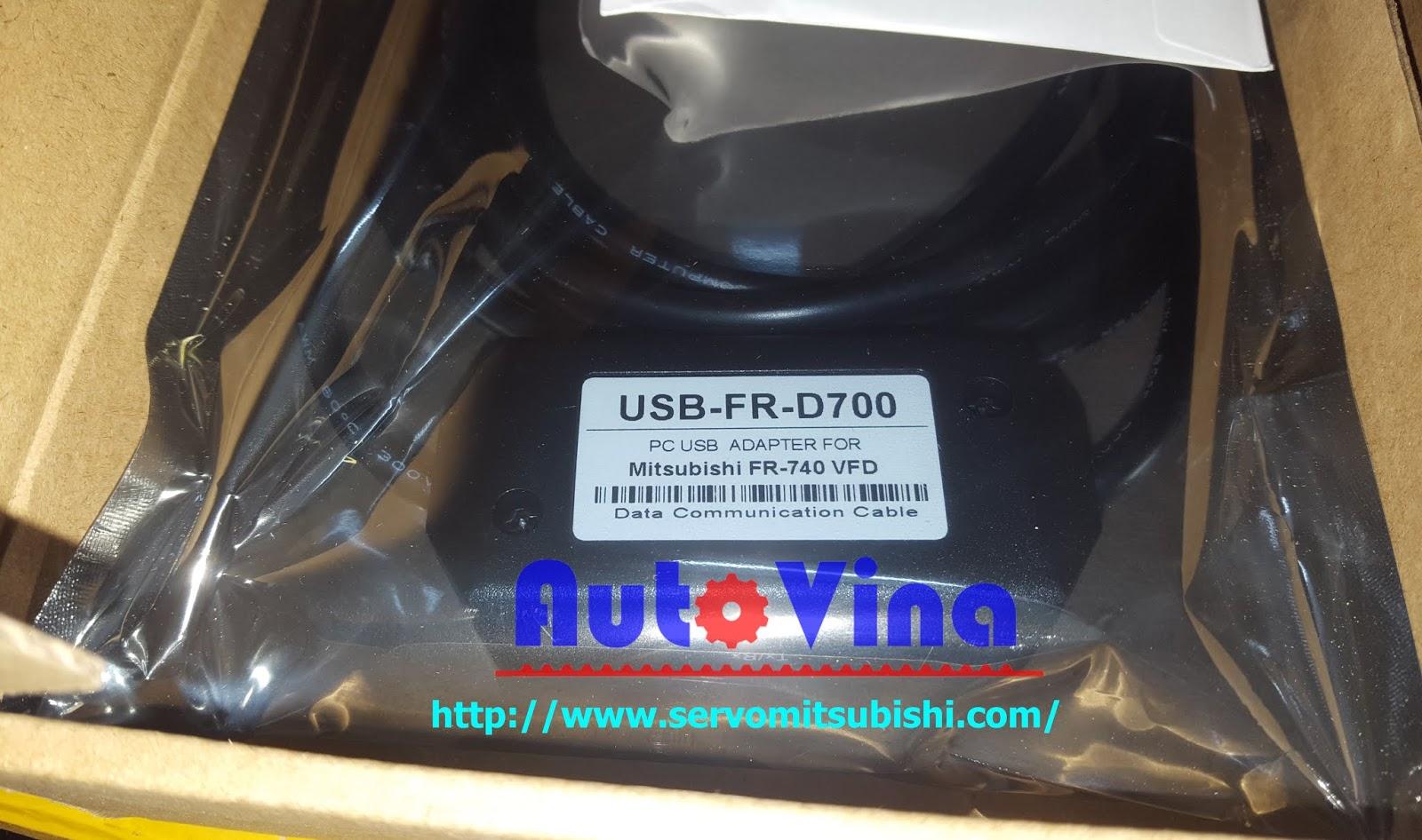 Đại lý bán USB-FR-D700 cable cài đặt kết nối biến tần Mitsubishi FR-D700