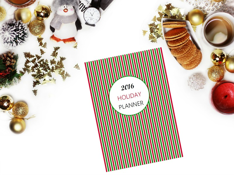 2016 free printable Holiday Planner - Ioanna's Notebook