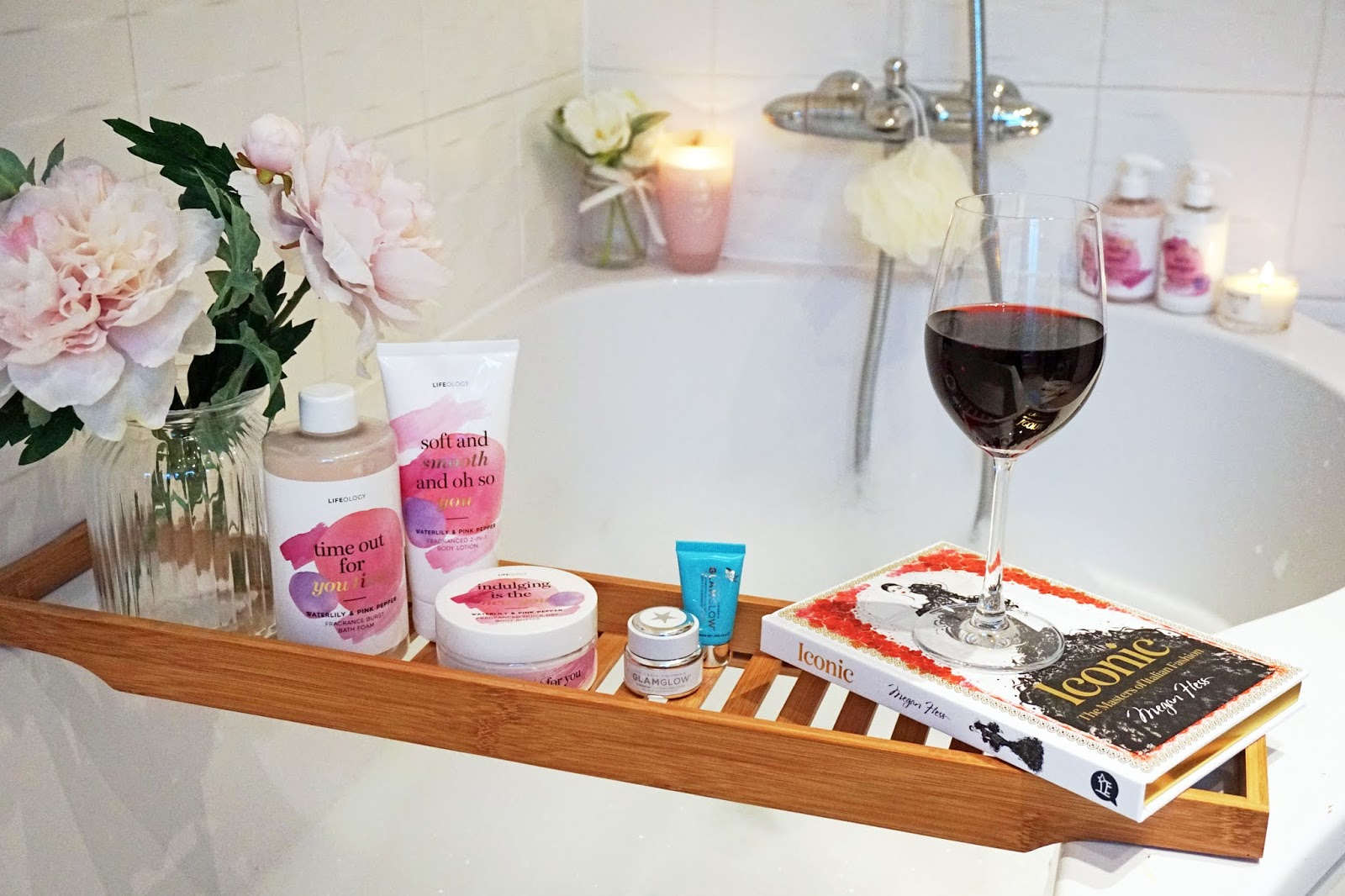Bath time essentials/pampering routine