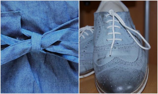 UE 50 Mode Blog, blaue Schnürschuhe