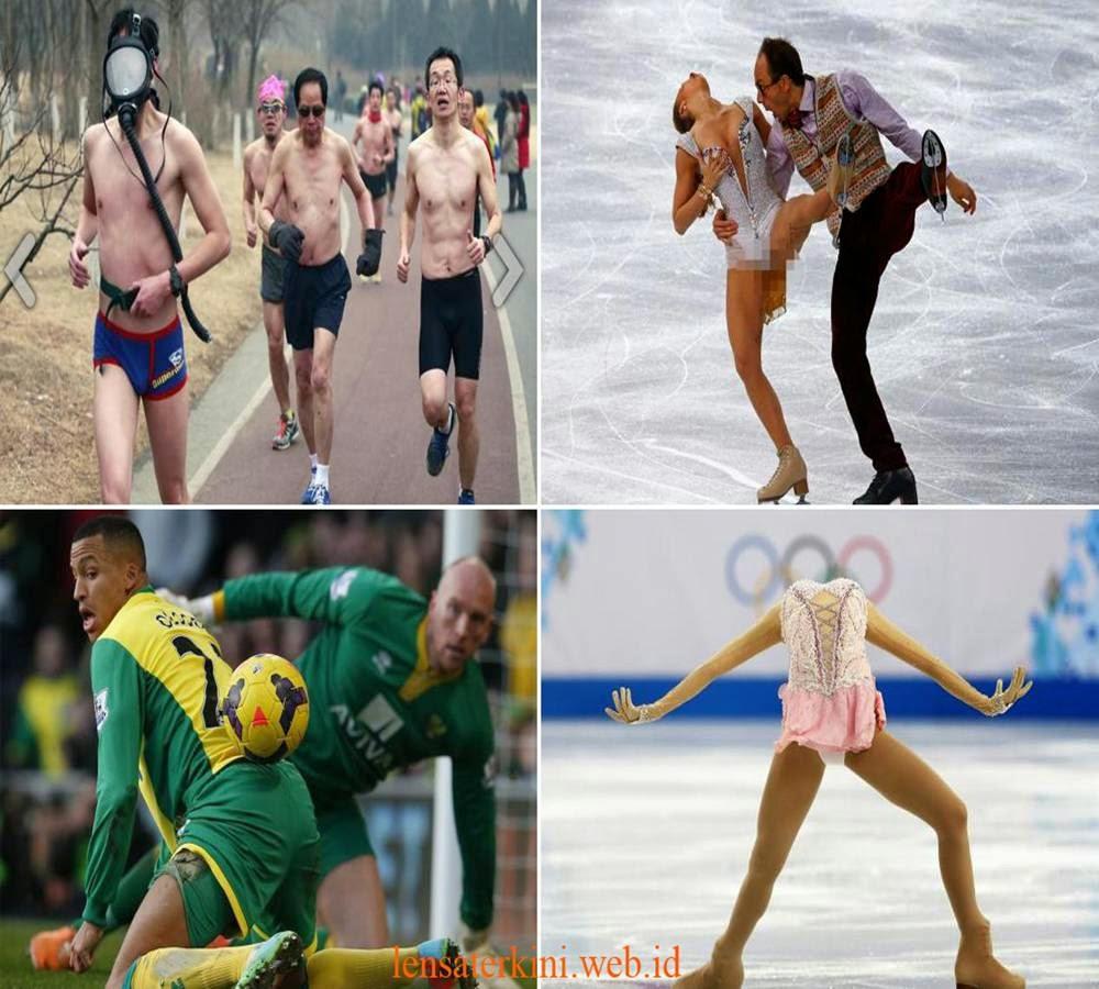 9 Aksi Atlet Teraneh Dan Terlucu Disaat Pertandingan Olahraga