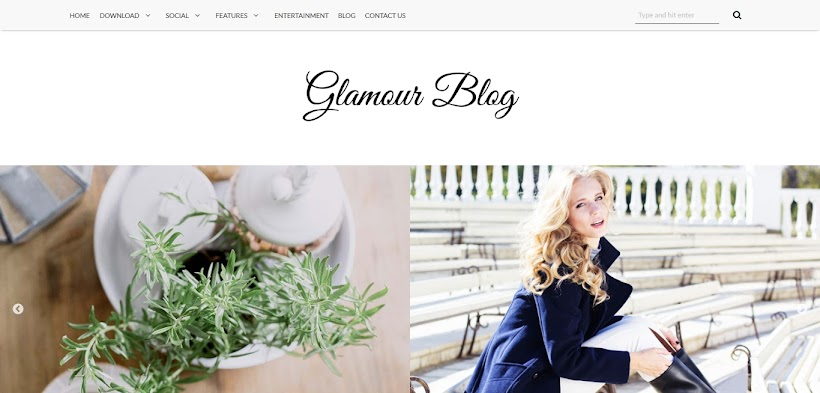 Glamour Free Blogger Template