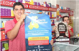 Serviços Alerta Celular e Disque Denúncia são divulgados em Maruim
