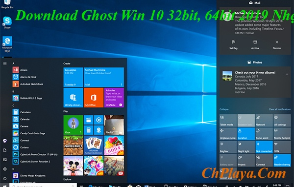 Download Ghost Win 10 32bit, 64bit 2019 Nhẹ, Bản Full Soft Google Drive a