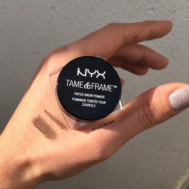 nyx tame frame tinted brow pomade kaş pomadı brunette 2
