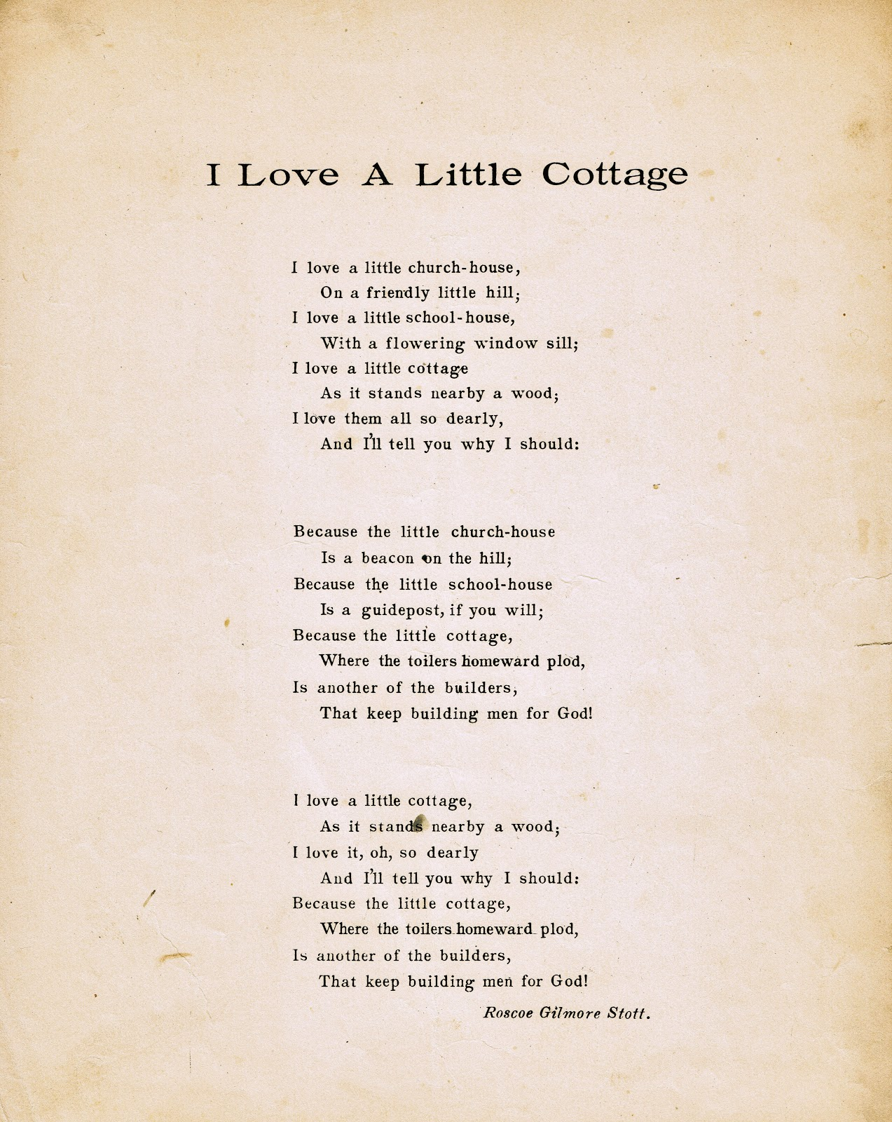 Housewarming Gift For Sister Antique Graphics Wednesday Cottage Poem And Sheet Music
