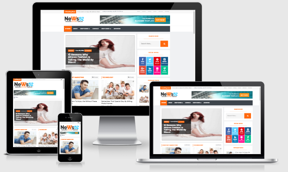 news 52 newspaper magazine blogger template freecodeaz share source code unity3d android. Black Bedroom Furniture Sets. Home Design Ideas
