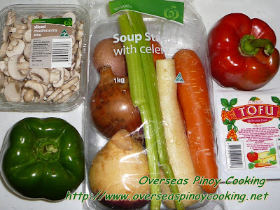 Vegetarian Bopis - Ingredients