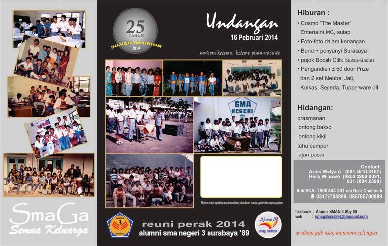 Ikatan Alumni Sman 3 Surabaya 89 Undangan Reuni Perak