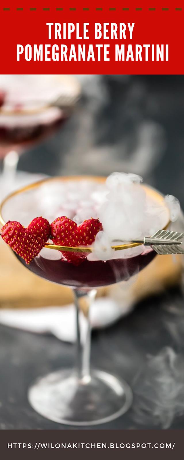 Triple Berry Pomegranate Martini