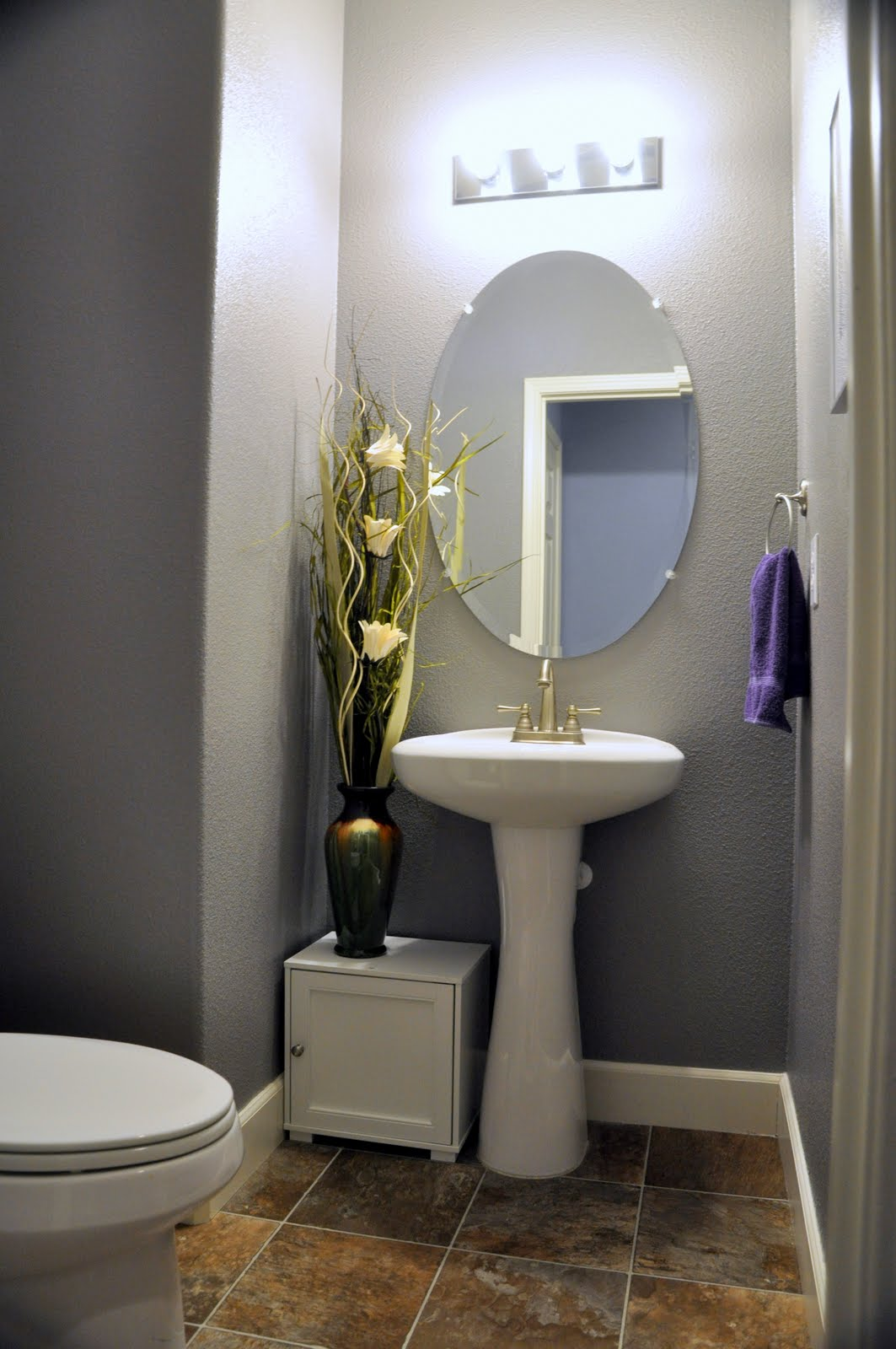 Turning Stones Blog Before and After Powder Bathroom