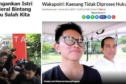 Wakapolri: Jangankan Istri Jenderal, Jenderal Bintang Lima pun Kita Proses, Netizen: Halah! Sama Kaesang Nggak Berani