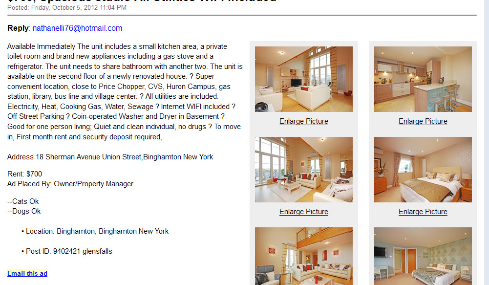 Backpage New York Apartment For Rent