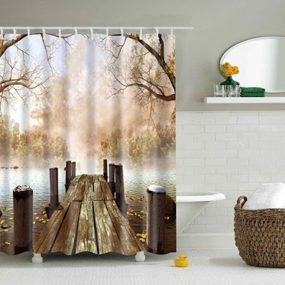 realistic 3D curtain ideas for shower