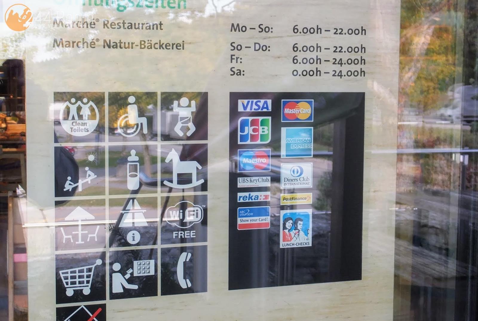 スイスのサービスエリア店内 Servicearea in Switzerland3