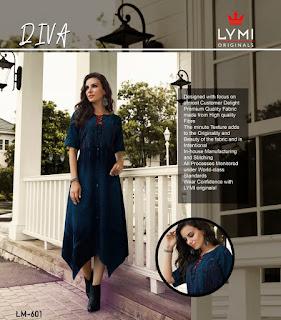 Lymi Diva Denim Party wear kurtis wholesaler