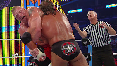 WWE SummerSlam 2012 Brock Lesnar Kimura Lock Triple H Referee Main Event