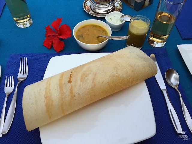 dosa desayuno en kerala india
