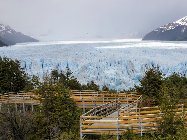 Boardwalk and Perito Moreno Glacier near El Calafate Argentina