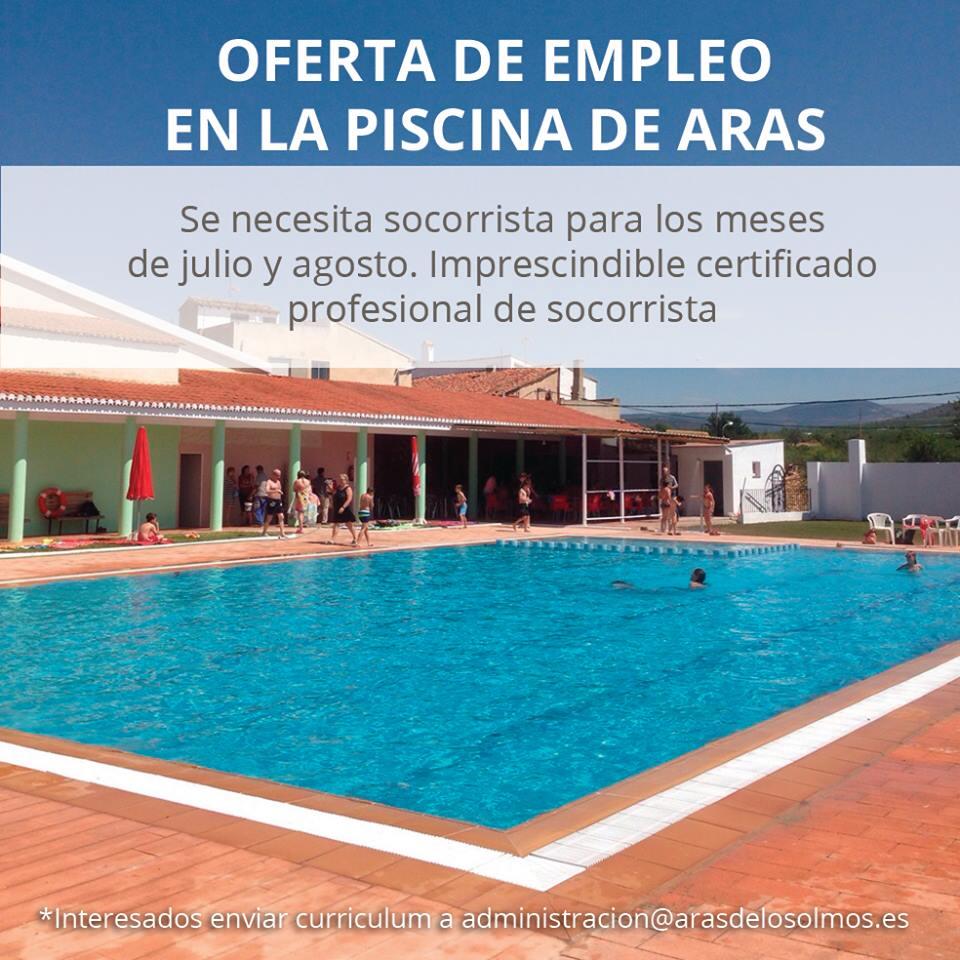 Turia revista digital se busca socorrista para la piscina de aras de los olmos - Socorrista de piscina ...